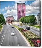 City Streets Of Charlotte North Carolina Canvas Print