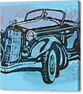 Classical Car Stylized Pop Art Poster Canvas Print