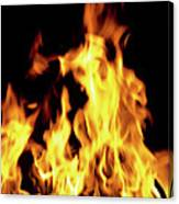 Close-up Of Fire Flames Canvas Print
