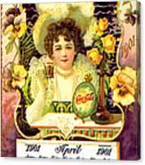 Coca - Cola Vintage Calendar Canvas Print