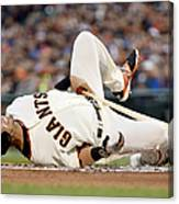 Colorado Rockies V San Francisco Giants Canvas Print
