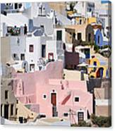 Colorful Oia Canvas Print