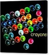 Colorful Wonderful Crayons Canvas Print