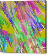 Computer Generated Abstract Fractal Flame Canvas Print