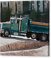 Construction Truck Canvas Print