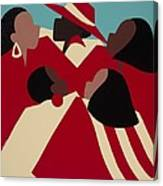 Crimson And Cream Canvas Print