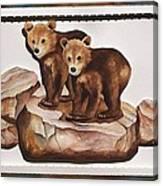 3-d Bearizona Bear Babies Canvas Print