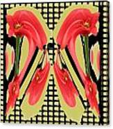 Dancing Tulip Red Exotic Flower Petal Based Wave Pattern  Created By Navinjoshi Reiki Healing Master Canvas Print