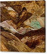 Death Valley Painted Rock Canvas Print