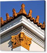 Decorative Roof Tiles In Plaka Canvas Print