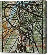 Derailluer On Map Canvas Print