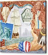 Destruction Of Native America Canvas Print