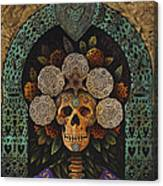 Dia De Muertos Madonna Canvas Print