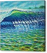Dolphin Surf Canvas Print
