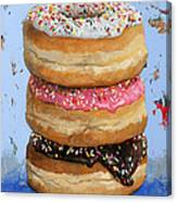 3 Donuts #2 Canvas Print