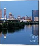 Downtown Indianpolis Indiana Skyline Canvas Print