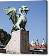 Dragon Bridge. Ljubljana. Canvas Print