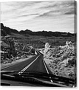 Driving Along The White Domes Road In Valley Of Fire State Park Nevada Usa Canvas Print