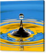 Drop Of Water Canvas Print