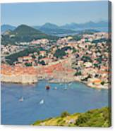 Dubrovnik, Croatia. Overall View Of Old Canvas Print