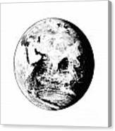Earth Globe Canvas Print