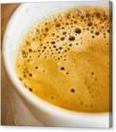 Espresso Coffee For Breakfast Canvas Print