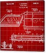 Etch A Sketch Patent 1959 - Red Canvas Print