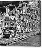 excavator in Ferropolis Canvas Print