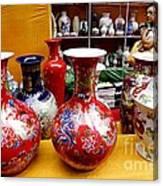 Feira De Porcelano Chinesa Canvas Print