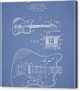 Fender Electric Guitar Patent Drawing From 1966 Canvas Print