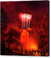 Fireworks Above Toce Falls, Formazza Canvas Print