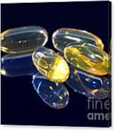 Fish Oil Capsules Canvas Print