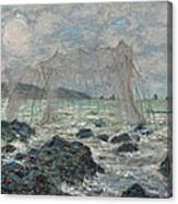 Fishing Nets At Pourville Canvas Print
