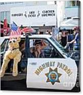 Ford Diplomat Police Car Canvas Print