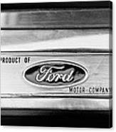 Powered By Ford Emblem -0307bw Canvas Print
