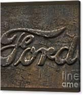 Ford Tough Antique Truck Logo Canvas Print
