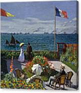 Garden At Sainte-adresse Canvas Print