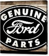 Genuine Ford Parts Sign Canvas Print