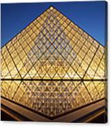 Glass Pyramid Canvas Print