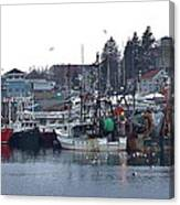 Gloucester Fishing Boats Canvas Print