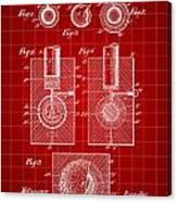 Golf Ball Patent 1902 - Red Canvas Print