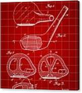 Golf Club Patent 1926 - Red Canvas Print