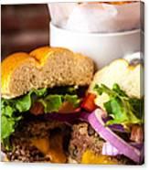 Gourmet Pub Hamburger Canvas Print