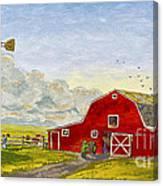 Grandpa's Farm Canvas Print