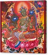 Green Tara 10 Canvas Print