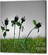Growing Green Energy Canvas Print