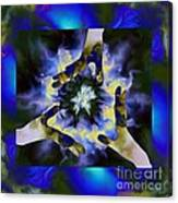 3  Hands Creating #2 Canvas Print