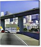 Heading Into The Busy Part Of San Francisco Canvas Print