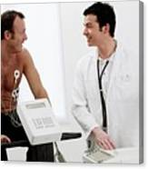 Heart Fitness Test Canvas Print