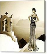High Fashion Santorini Canvas Print
